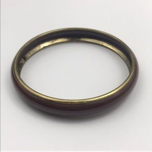 Vintage Simple Brown Gold Bangle Bracelet